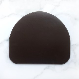 Two-tone leather/leather mouse pad