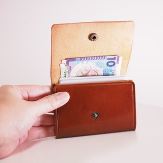 Simple Short Wallet - Brown Red