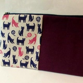 Towel pouch * Purple Cat