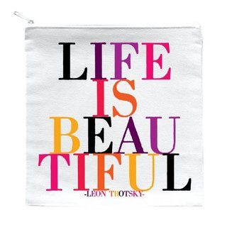 Life Is Beautiful zipper bag