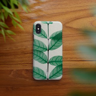 iphone case natural green leaf for iphone5s, 6s, 6s plus, 7, 7+, 8, 8+, iphone x