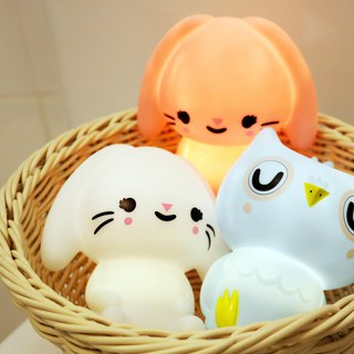 Goody Bag - Dutch Petit Monkey ─ Owl + lop rabbit decorative night light