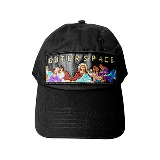 OUTER SPACE Last Supper Embroidery Hat (Black)