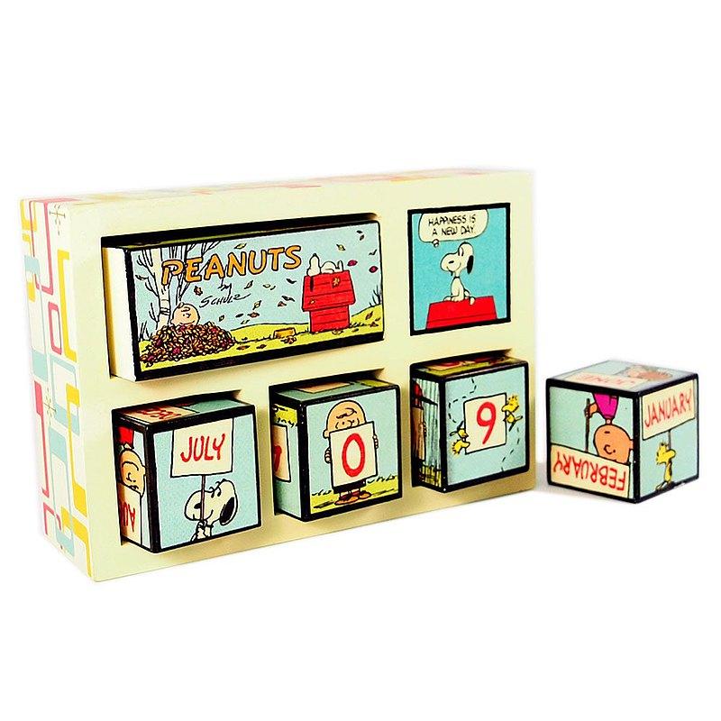 Snoopy日曆雕塑-幸福的一天【Hallmark-Peanuts史努比 擺飾】