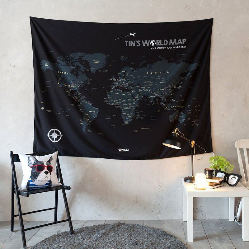 Personalized world map pin map travel map starry black wall decor personalized world map pin map travel map starry black wall decor fabric gumiabroncs Image collections