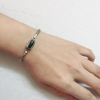 Tourmaline Bangle Handmade in Nepal 92.5% Silver
