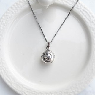 Big staff Taipa [manual Tainan specialty] good luck (pregnancy) 椪 sterling silver necklace wish good luck pregnant