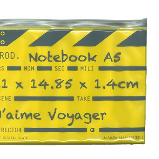 Director clap Journal jotter A5 Notebook - Yellow