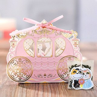 Pumpkin Carriage Wedding Small Things Cats Tea Customized Handmade Wedding Tea Bag Gift Box Cat Modeling Creative Tea Bag (50 Orders)