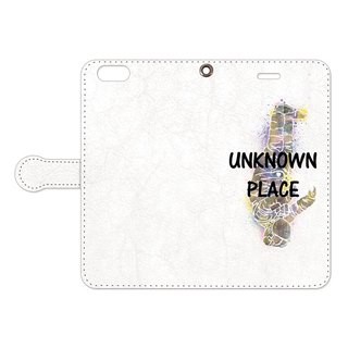 [Handbook type iPhone case] Unknown place