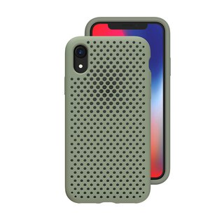 AndMesh-iPhone XR dot soft anti-collision protective cover - mud green (4571384958950
