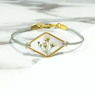 Ultra Thin Pressed Flower Bracelet