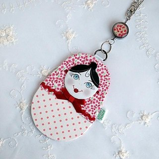 Matryoshka Pass Case · Small flower (MP-055)