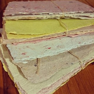 Special handmade paper (six into)