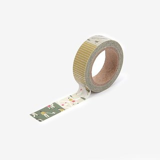Dailylike single roll of paper tape -70 camping map, E2D43403