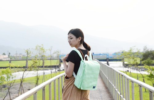 ::Bangstree:: Canvas Backpack -MintCream