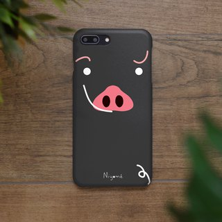 iphone case black Kurobuta pig for iphone5s,6s,6s plus, 7,7+, 8, 8+,iphone x