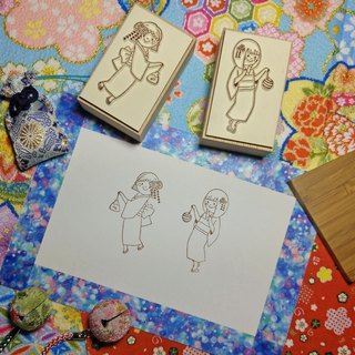 【Log Stamp】Summer Fireworks Yukata Girl Group-B