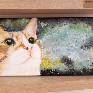 Cosmic Cat Star Orange Star Original Painting