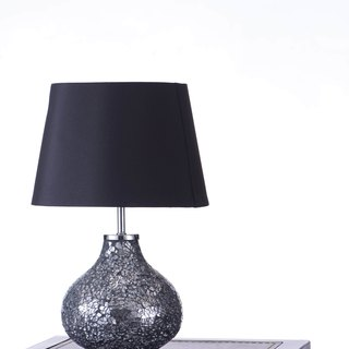 BNL00082 - Bright Chrome Mosaic Table Lamp