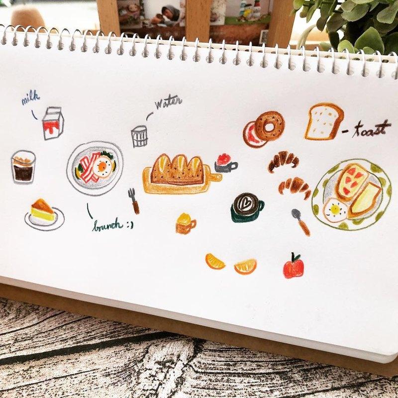 【可許願日期】色鉛筆插畫+熱縮片實驗室 / 早晨時光-簡v老師