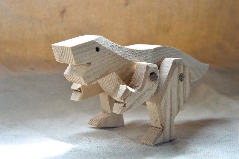 Dinosaur Friends Series - Tyrannosaurus Rex handmade alder wood products can be replaced free manual lettering