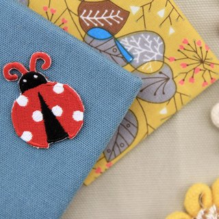 Little ladybug self-adhesive embroidered cloth stickers - Forest Series