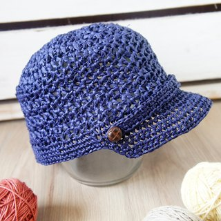 Hand-woven - grass woven basket empty personality equestrian cap / baseball cap / sun hat (adult / men and women can wear) ~