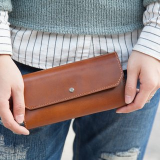 Envelop Wallet / Walle t/ Purse / Brown / Leather
