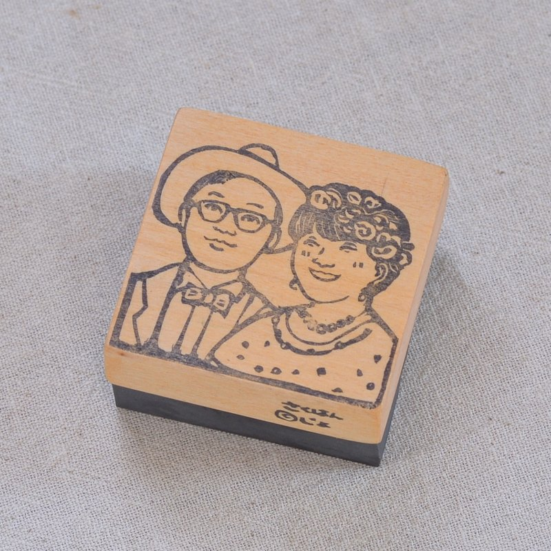 Bridal Portrait stamps (with letters)[hand carved]