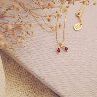 Coronation - necklace / Coronation Series - Ruby Crown