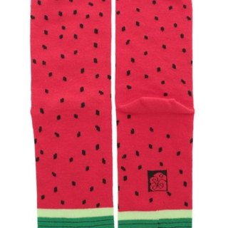 Pre-ordered watermelon two-finger socks medium length female socks 7JKP6104