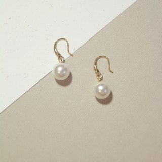 Vermeer Swarovski pearl simple earrings can be changed to clip