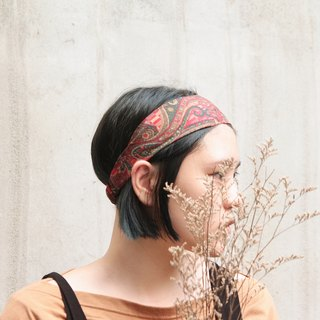 [New version] old pub / retro amoeba / hand flat wide hair band _Old Pub // Paisley / Taiwan handmade single elastic hair band