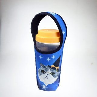 Three cats cat pattern eco-friendly beverage bag star magical cat