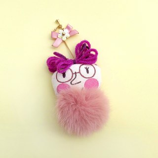 original purple hair style hand-painted ear clip
