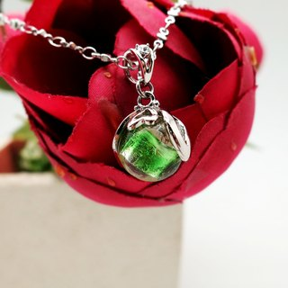 Diffuser Necklace Sweetheart Petite Bonbon Green Color with Oil Dropper