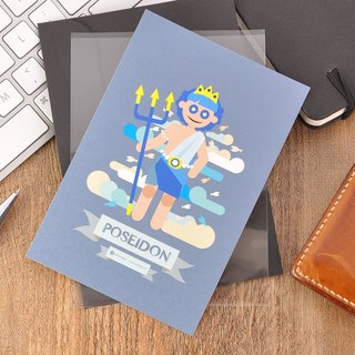 Greek Mythology Character Postcard - Poseidon