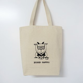 Screen printing  Tote bag   Mr. Fat goat  reading