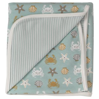 100% Organic Cotton Crab Pattern Baby Towel Made in England