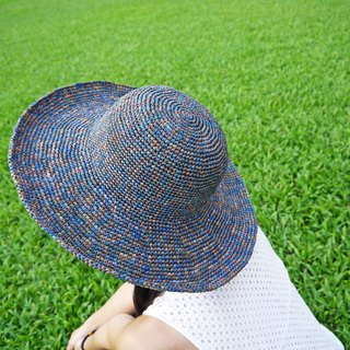 Mama の hand-made hat - Summer Rafael grass / Zhisheng cap - foldable to increase the dome - Turkish Folk / Mother's Day