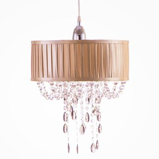 BNL00009- pleating cotton champagne chandelier