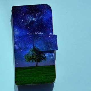 【All models supported】 Free shipping 【notebook type】 Tree and star smart case