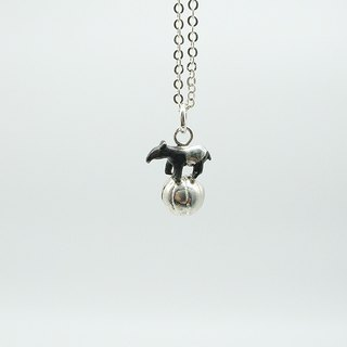 Sterling Sliver Animal on The Ball Necklace(Tapir/Sheep/Hedgehog/Elephant/Rhino