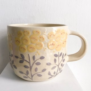 Small yellow flower mug - only one