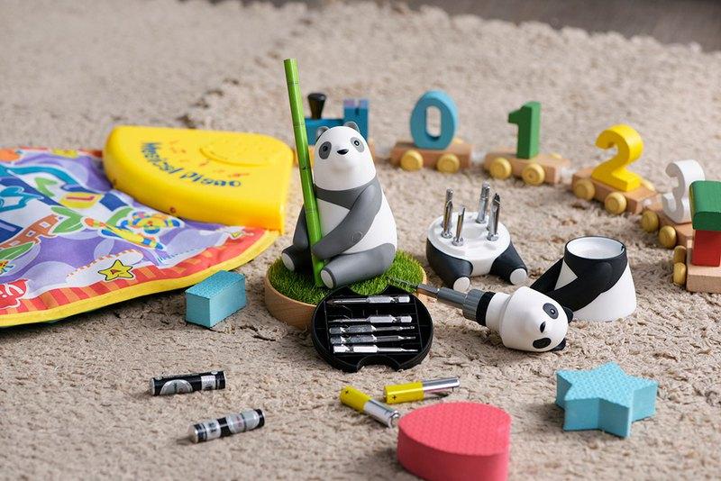 Panda Mama棘輪螺絲起子組(含原木底座及12 in One BITS配件)