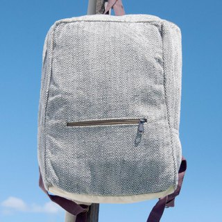 Cotton and linen stitching design backpack backpack national mountaineering bag handmade computer bag - simple forest wind