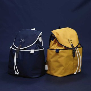 Handcrafted in Spain | Ölend Ringo Waterproof Nylon | Drawstring Backpack / Computer Bag (Navy Navy)