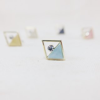 Golden Age - Sky Blue Earrings (pair) = can be changed ear clip =