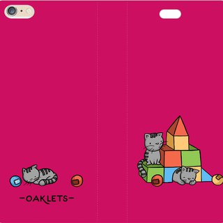 Children's Fun, Designer Series - Oaklets - Magnetic Leather Case (Rose) AF05